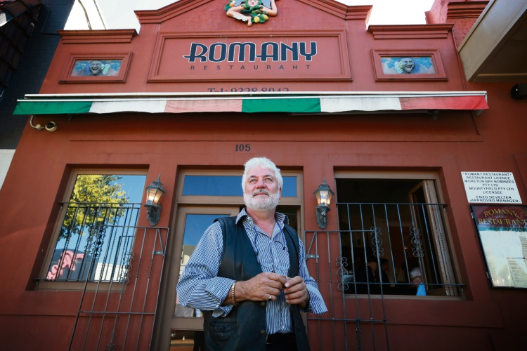 Romany Restaurant owner Enzo Develter. Picture: Andrew Ritchie d482630