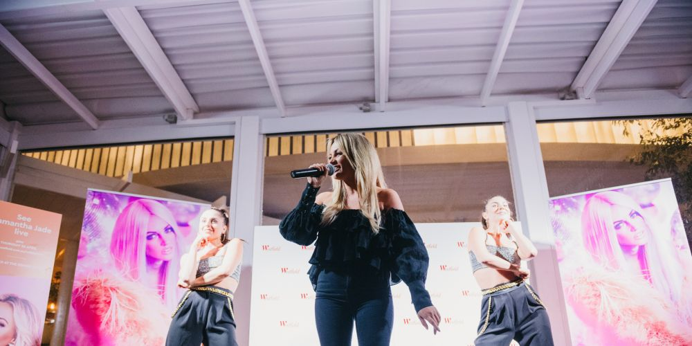 Samantha Jade performs at Westfield Whitford City. Pictures: Jarrad Seng