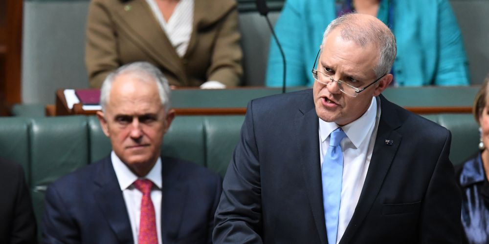 Federal Treasurer Scott Morrison hands down his third Federal Budget in the House of Representatives at Parliament House in Canberra. Photo: AAP