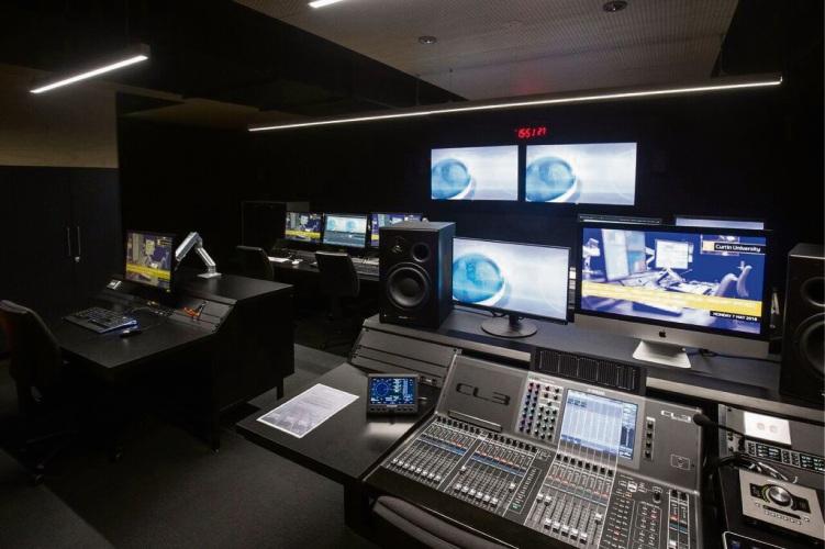 Inside the upgraded media production studio.