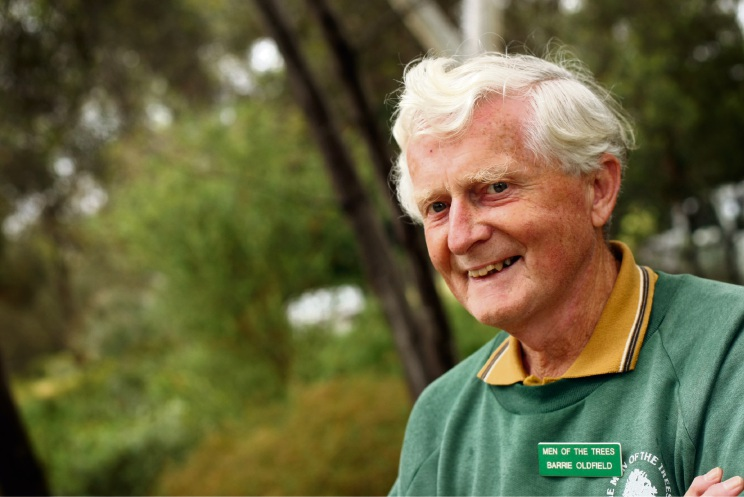 Men of the Trees founder Barrie Oldfield.