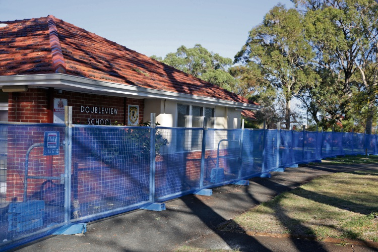 The Doubleview Primary School site. Picture: Martin Kennealey d482455