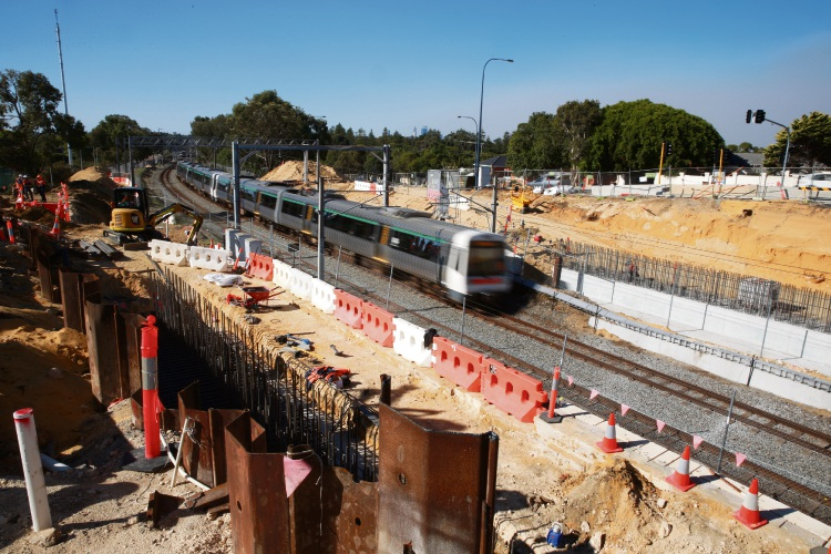 Spotters warn workers of approaching trains: Picture: Andrew Ritchie.