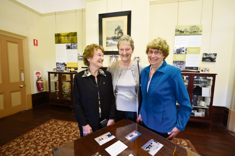The three Sutton sisters - Annette Sutton, Barb Pozzi and Jill Leembruggen - in the Pinjarrah Room. Picture: Jon Hewson d482560