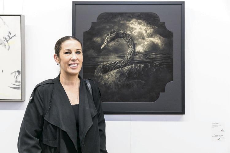 Eva Fernandez with her award-winning piece.