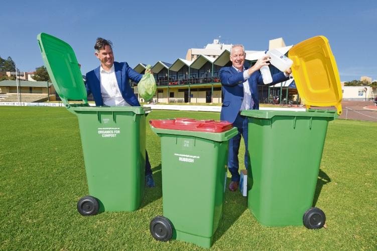 Fremantle Mayor Brad Pettitt and Southern Regional Council chief executive Tim Youé. Picture: Jon Hewson d482730
