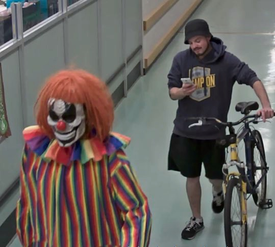 No laughing matter: Scarborough police on hunt for clown thief who stole plant from Innaloo Shopping Centre