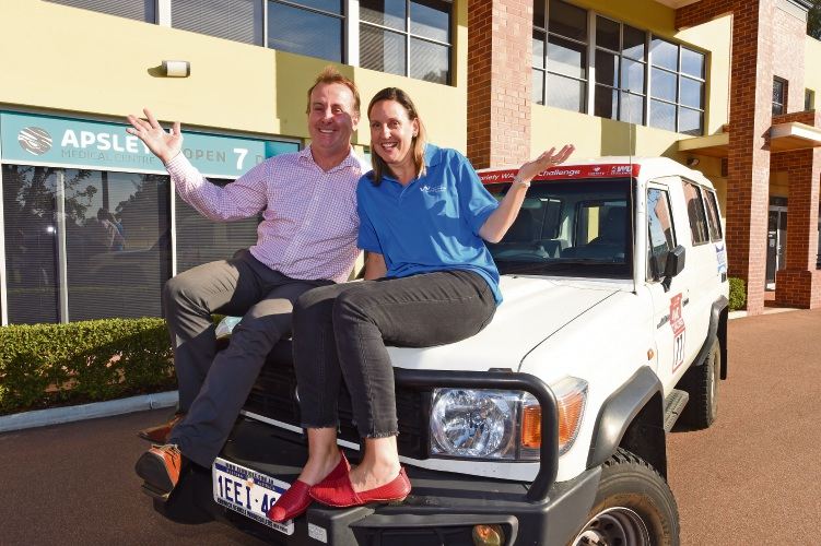 Gemma and Stuart Downie will take part in the 2018 Variety 4WD Challenge, starting May 27.