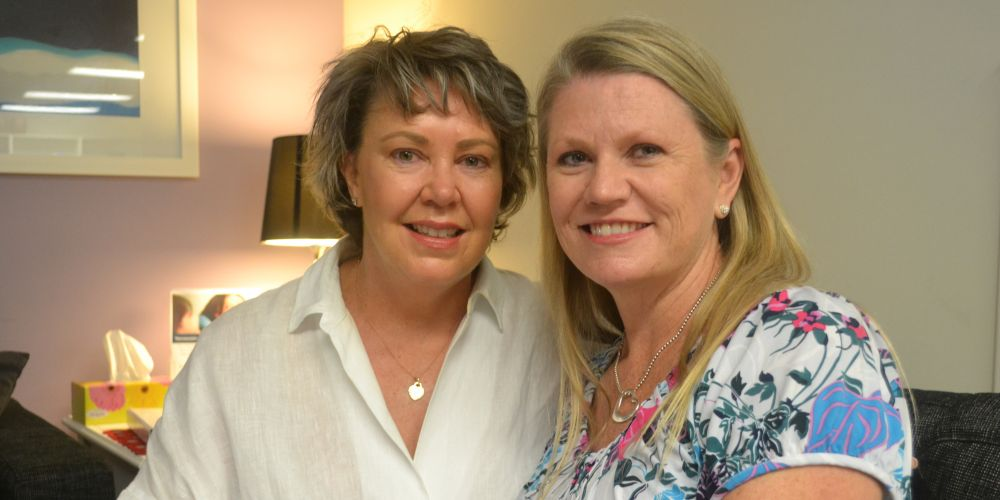 Ingrid Kiel-Monaghan and Alison Hooper at the St John of God Subiaco Hospital Solaris Cancer Care centre.