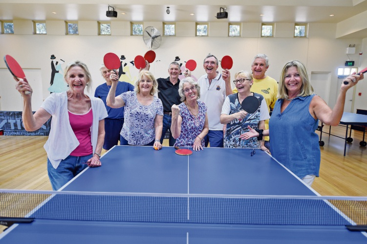 The Tuesday and Wednesday table tennis club. Picture: Jon Hewson.