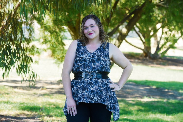 Louise O'Reilly is a finalist in Miss Naidoc 2018. Picture: Jon Hewson d482723