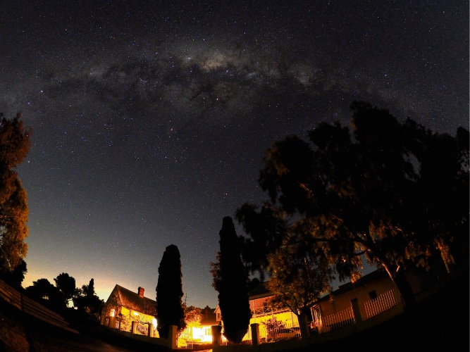 The Milky Way over Hope Farm Guest House in York. Picture: Brendon Surin.