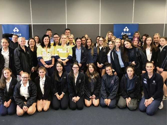 More than 40 students participated in the career event at Pinjarra Senior High School.