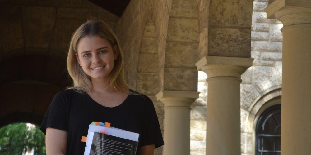 Miss Naidoc Perth 2018 finalist Sophie Coffin. Picture: Jessica Warriner