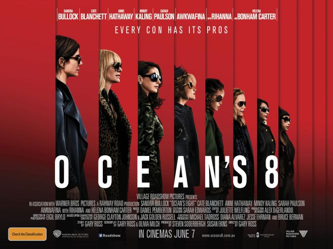 Win tickets to Ocean's 8