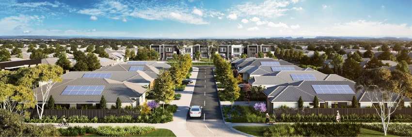 An artist's impression of The Amble development in Girrawheen.