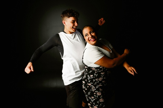 Wyatt Gordon and Cat Maree Perez wiggle it just a little bit in Fame – The Musical. Picture: Viva Photography Rockingham