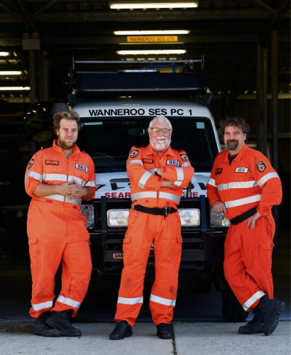 SES volunteer Andrew MacLean is following in his grandfather Jim and father David's footsteps. Picture: Martin Kennealey d482985