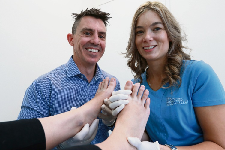 Nic and Rachel Lange (Podiatrists) has moved from their old clinic to a new purpose-built podiatry clinic at 213 Walter Road West Picture: Andrew Ritchie www.communitypix.com.au   d482255