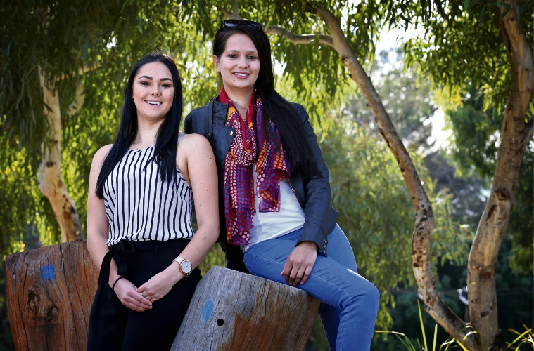 Stacey Loveridge and Angelina Headley of Midland. Picture: David Baylis www.communitypix.com.au d482688