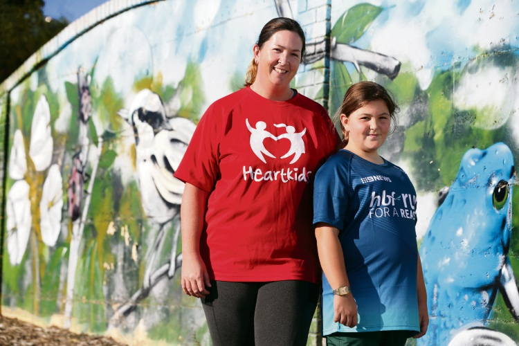 Jess Green (Banksia Grove) and her daughter Eryn (11). Picture: Martin Kennealey d482654