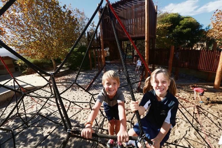 Quintilian School's new adventure playground. Picture: Andrew Ritchie d483164