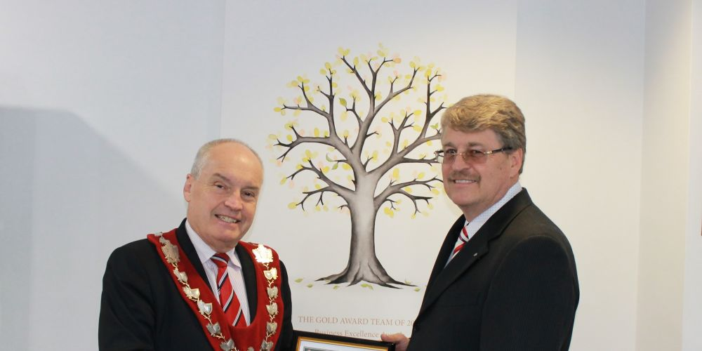 Melville Mayor Russell Aubrey and outgoing chief executive Shayne Silcox. Picture: Supplied