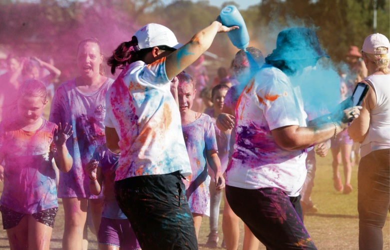 Connolly Primary School held a colour run. Pictures: Martin Kennealey d483081