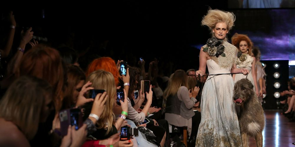 A runway show at Perth Fashion Festival. Photo: Matt Jelonek.