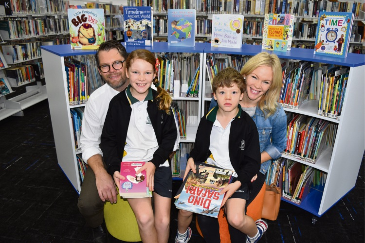 Bayswater Mayor Dan Bull and his wife Nyssa with their kids Willow (8) and Harrison (6).