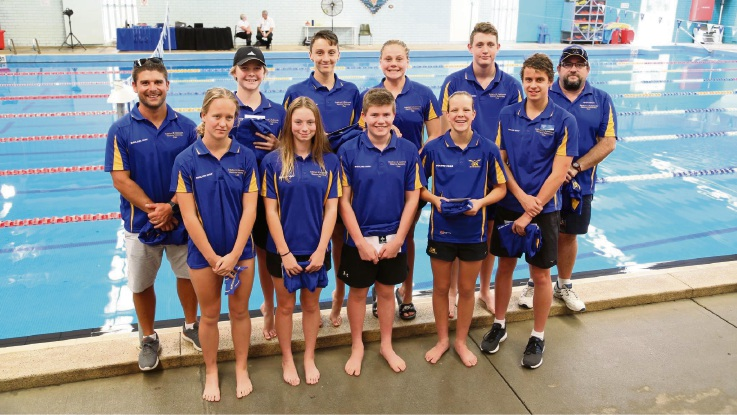 Members of the Guildford and Kalamunda Districts Swimming Club.