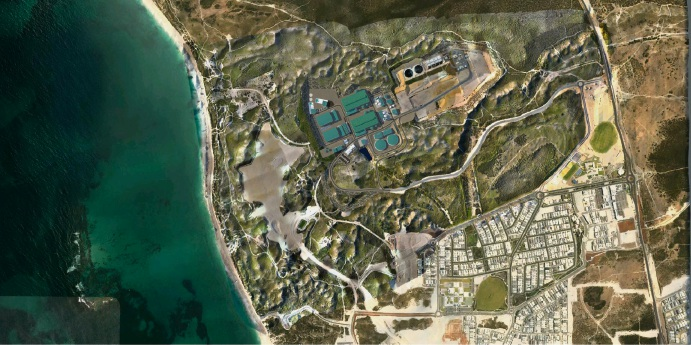 A concept plan for the Alkimos desalination plant.