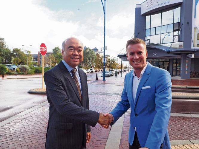 Moore MHR Ian Goodenough and Joondalup Mayor Albert Jacob.
