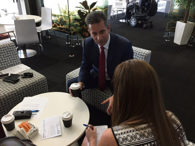 Shop Local: coffee with Small Business Minister Paul Papalia