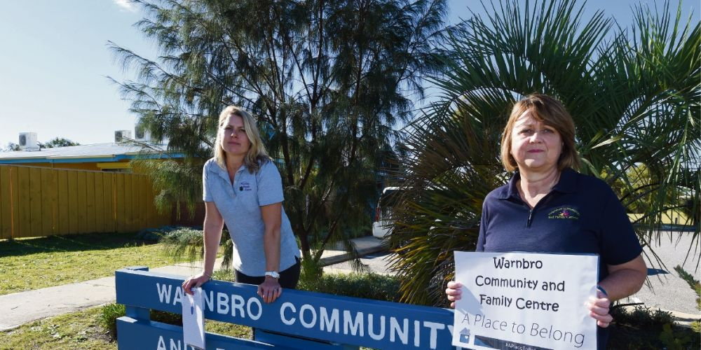 Westerly co-ordinator Tanya Miller and Warnbro Community & Family Centre coordinator Natalie McLaren were concerned about funding changes last year. Picture: Jon Hewson d470591