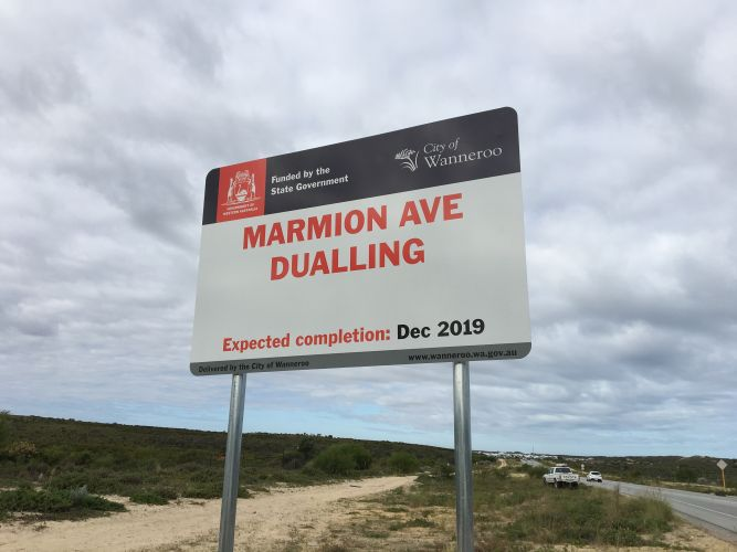Signs up, but Marmion Avenue widening still several months away