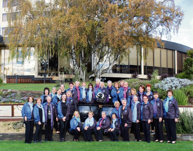 The Indian Blue Chorus in Hobart at the Sweet Adelines Australia Convention.