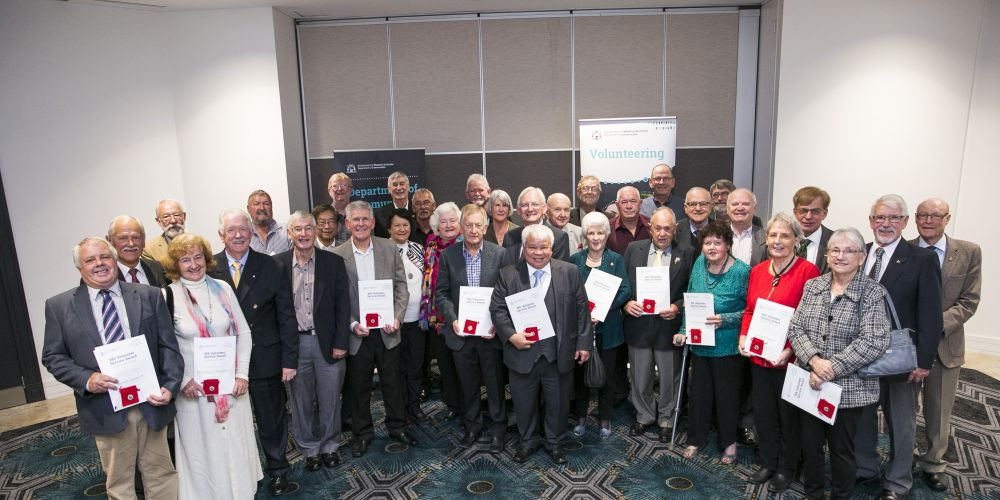Some of the volunteers honoured at the WA Volunteer Service Awards.