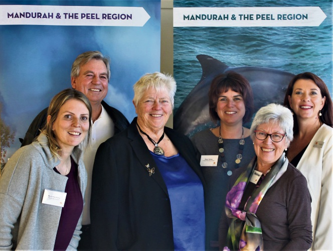 At the forum were Myrianthe Riddy (Mandurah Cruises), Kevin Mahney (Forest Discovery Centre), Paddi Creevey (Peel Development Commission), Shani Holster (Forest Discovery Centre), Pat Strahan (board member) and Karen Priest.