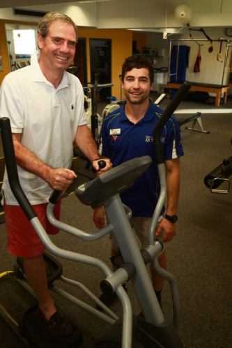 Tom Mooreman who ran the 4km Run for a Reason with his exercise physiologist Dylan Warner.
