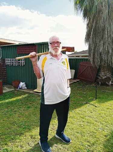 Jock Fyfe won a croquet tournament after just 12 months playing the game.