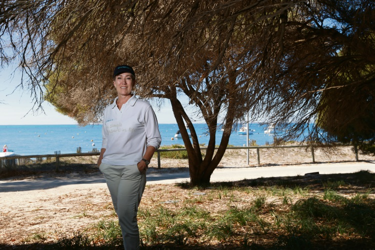RIA chief executive Michelle Reynolds stands where the new Hotel Rottnest development will be built.