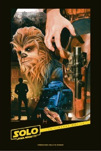The <em>Solo</em> movie poster by Star Wars illustrator Mark Raats.