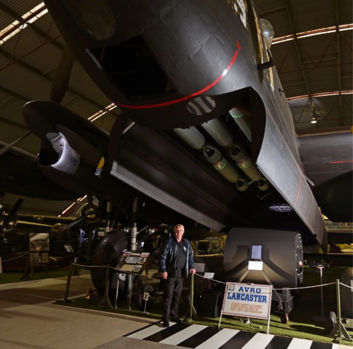 Aviation Heritage Museum manager John Park is pleased with the new Bouncing Bomb display. Picture: Martin Kennealey.