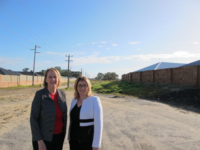 Midland MLA Michelle Roberts and Transport Minister and West Swan MLA Rita Saffioti.