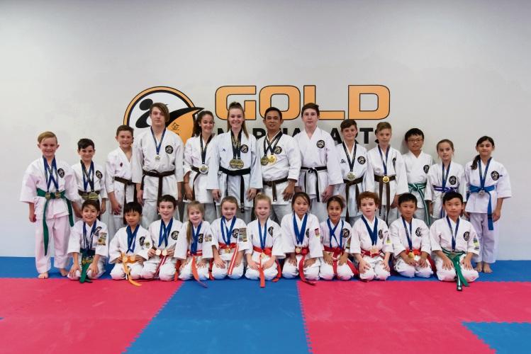 Gold Martial Arts competitors.