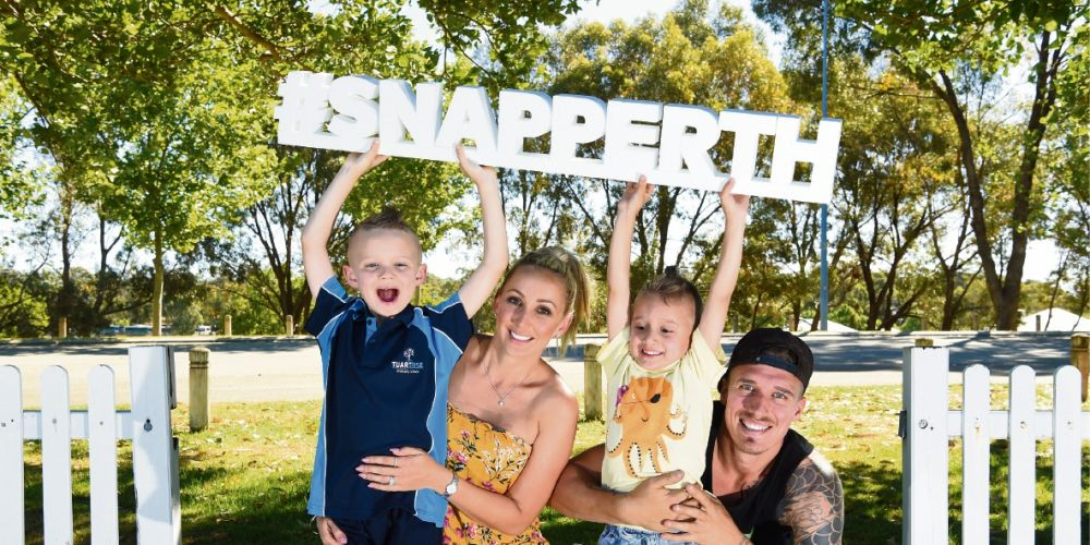 Luke Toki with his wife Mary and two boys Lennox and Nate.