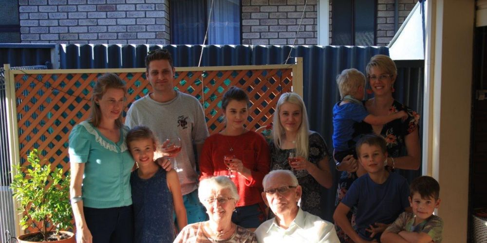 Leeming couple Trudie and Harry Goldsword celebrate their 65th wedding anniversary with family.