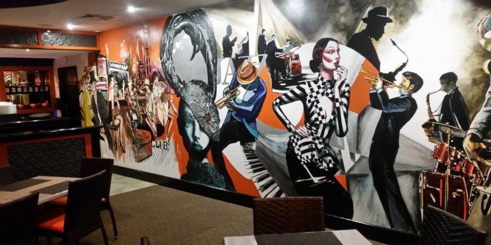 Artist Deb Zibah's new mural.
