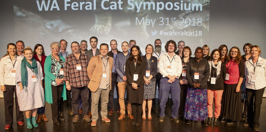 Sponsors and presenters at the 2018 WA Feral Cat Symposium.
